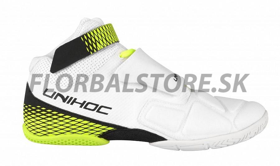 Unihoc U4 Goalie white neon yellow brankárska obuv  d54b3dbe55