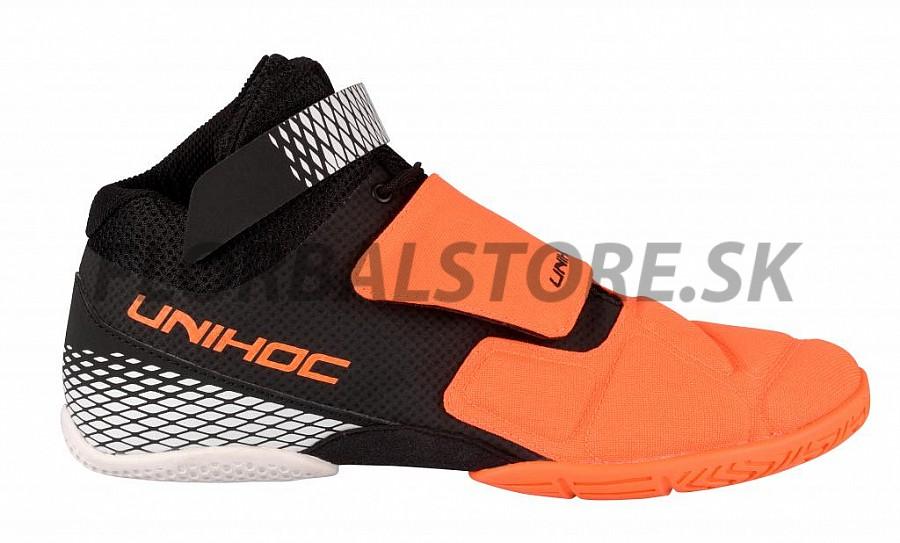 Unihoc U4 Goalie neon orange black brankárska obuv  822a6b1b29