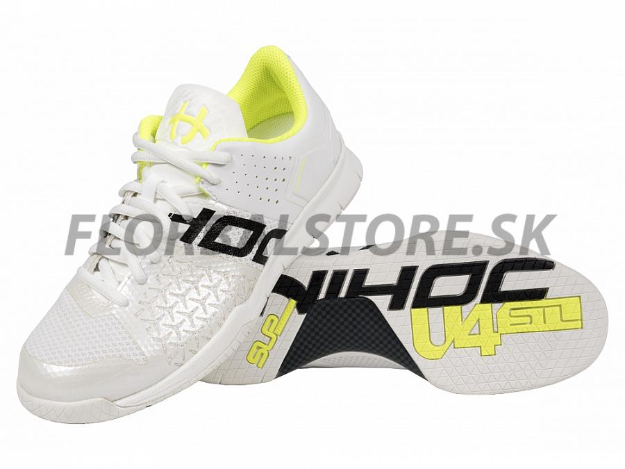 Unihoc U4 STL LowCut Lady white yellow florbalová obuv  18a9ddc1583