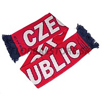 EXEL šála CZECH REP. SCARF RED